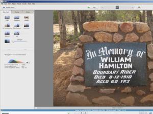 Editing Hamilton's grave photos in Picasa
